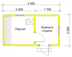 Баня 2.2x4