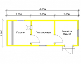 Баня 2.2x6