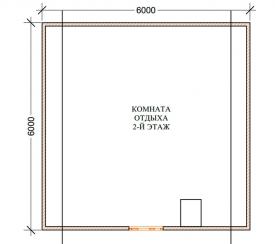 Баня 6x6, 2 этажа