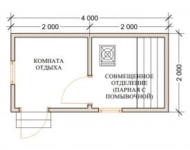 Баня 2х4