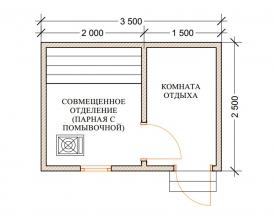 Баня 2,5х3,5